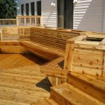 custom cedar deck from brothers deck & fencing