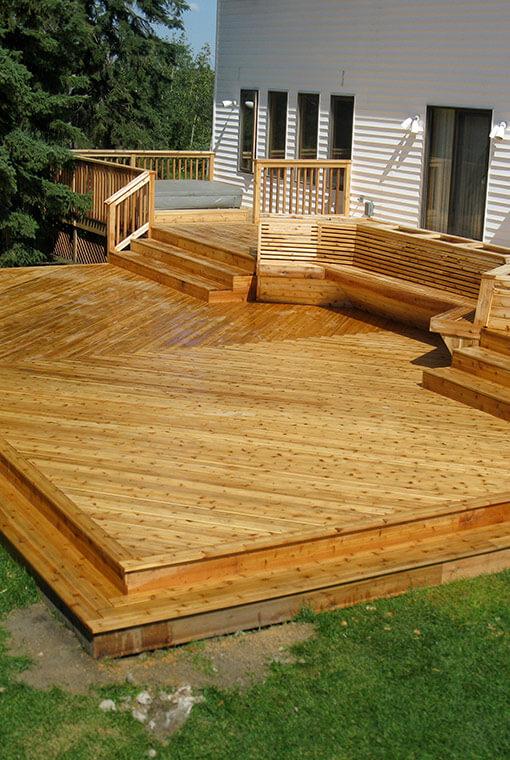 Custom cedar decking