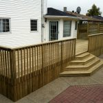 4 steps backyard deck
