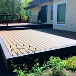 TREX deck with aluminum railing