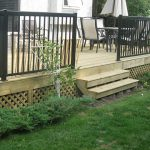 pressure treated wood backyard deck